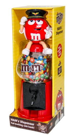 M&M's Cdy Dispenser Choc 2x45g