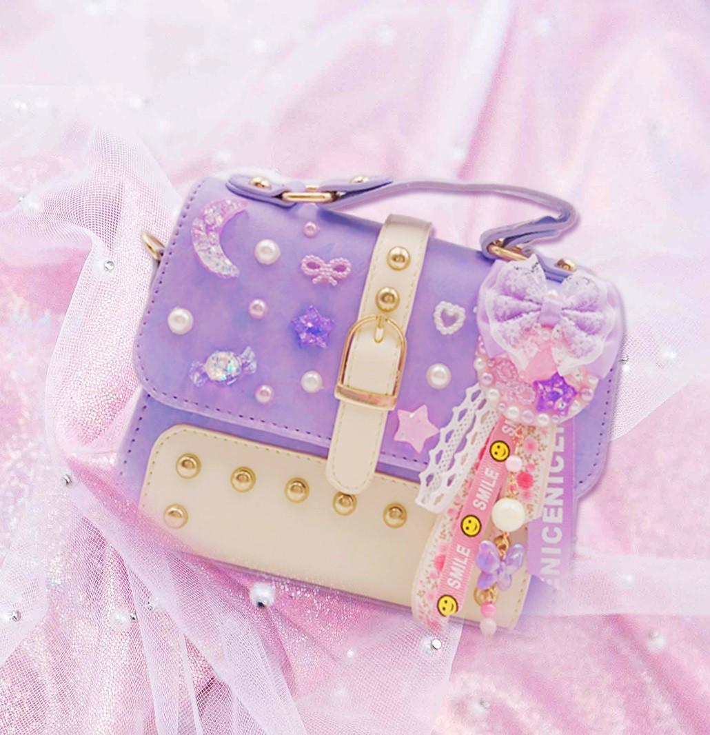 女童精品手袋-紫