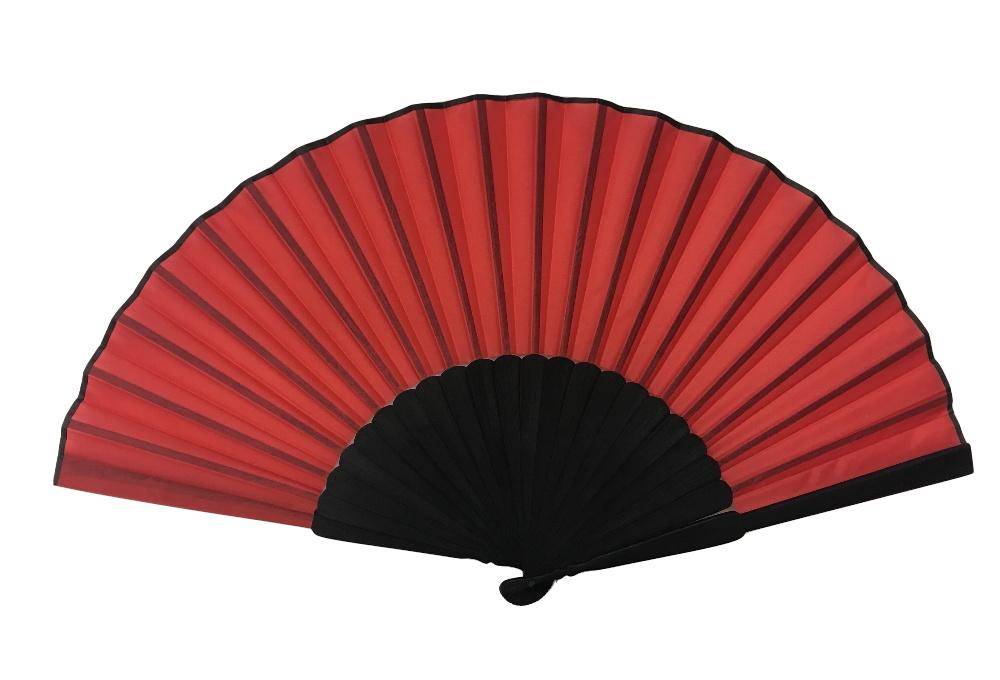 NO.543 頭青寬骨素面絹扇(大梆)
