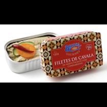 辣橄欖油鯖魚塊