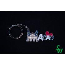 NO. 02010016 金屬鎖匙扣 - MACAU主題款: 大三巴