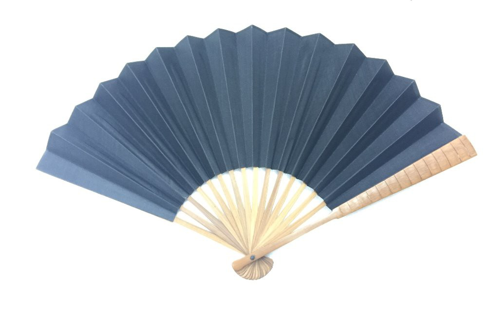 NO.505 Two-sided black silk-cloth folding fan