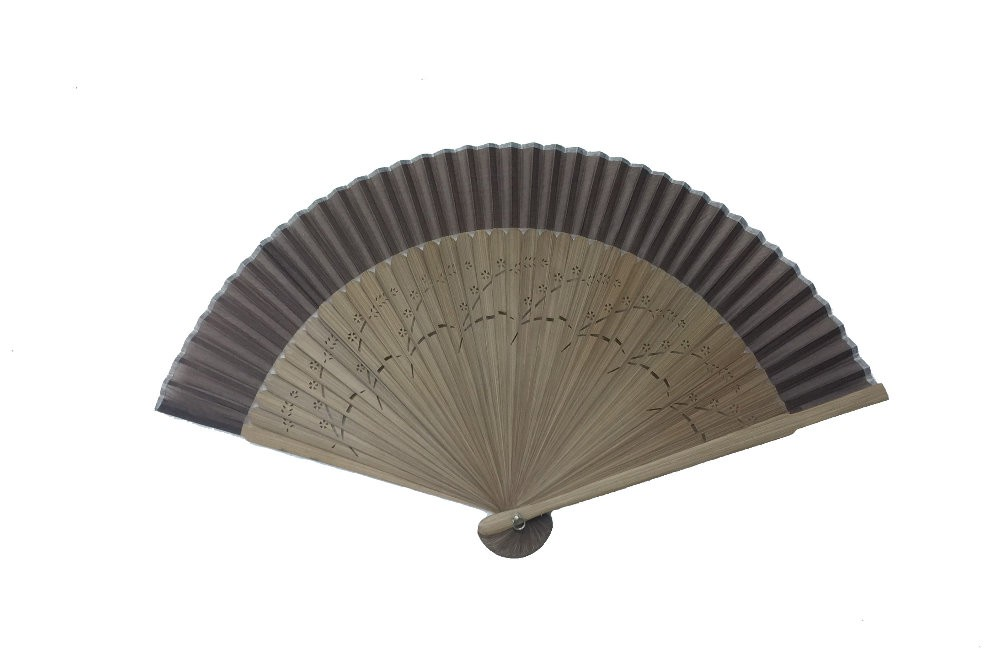 NO.504 Real silk folding fan with a variety of coloured fabrics