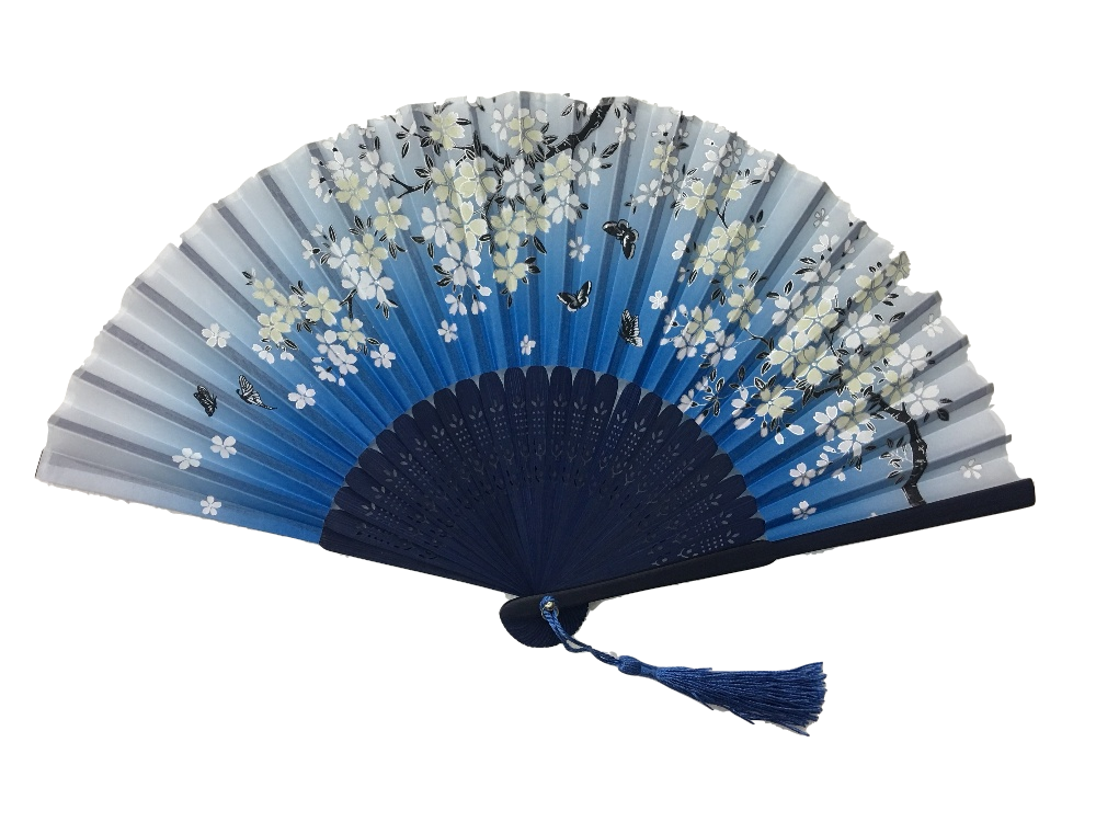 NO.556 Silk-cloth folding fans with a variety of colours and prints