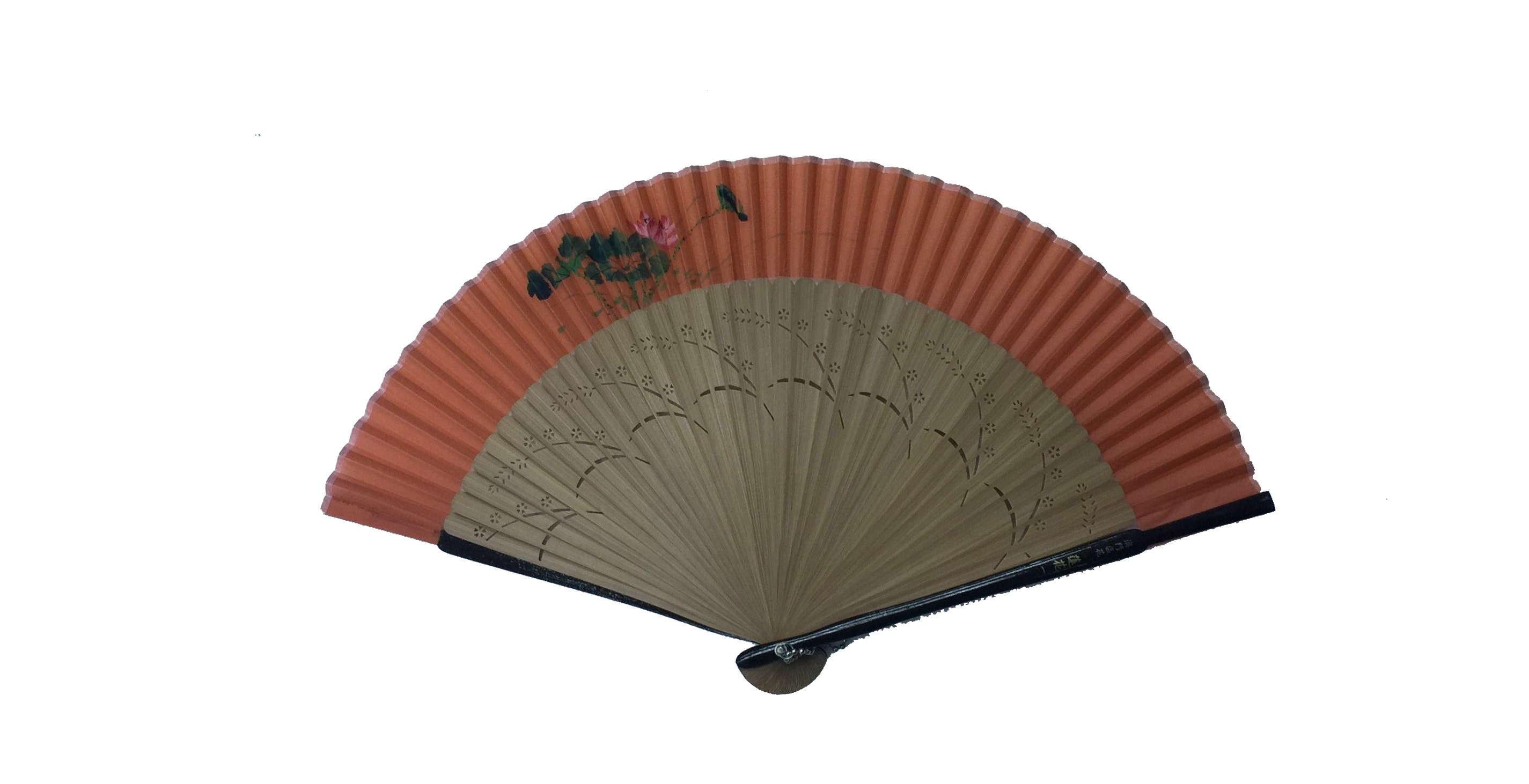 NO.516 Hand-painted real silk folding fan (Lotus - Macau) - Regional flower