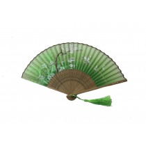 NO.B532 Silk-cloth folding fans with a variety of colours and prints