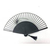 NO.555 Premium hand-painted real silk folding fan