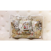 Vintage Style Power Bank Design Bag - Transparent