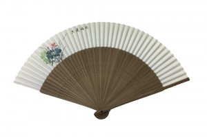 NO.601 Hand-painted folding paper fan (Lotus - Macau) - Regional flower