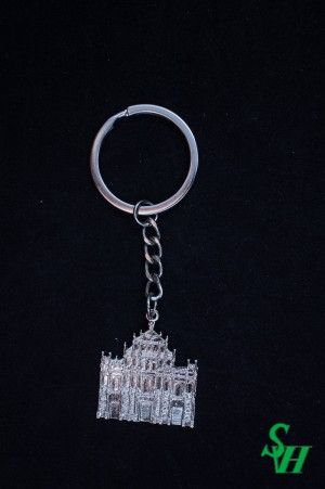 NO. 02010002 Metal Key Ring - Ruins of St. Paul's