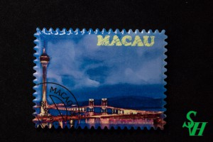 NO. 11060033 Tooth Magnet Sticker - Macau Tower