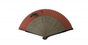 NO.516 Hand-painted real silk folding fan (Lotus - Macau) - Regional flower